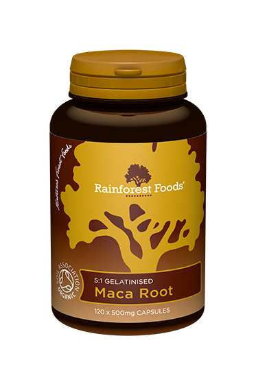 Rainforest Foods Maca Capsules 120x500mg - 6 pack