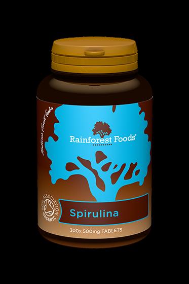 Rainforest Foods Spirulina Tablets 300x500mg - 6 pack