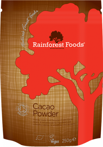 Rainforest Foods Cacao Powder 250g - 6 pack