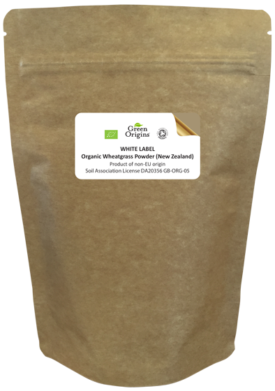 White Label Organic Wheatgrass Powder (New Zealand)