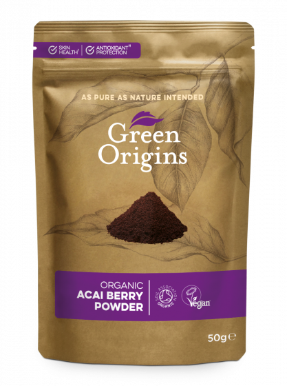Green Origins Organic Acai Berry Powder (Freeze Dried) 50g - 8 pack