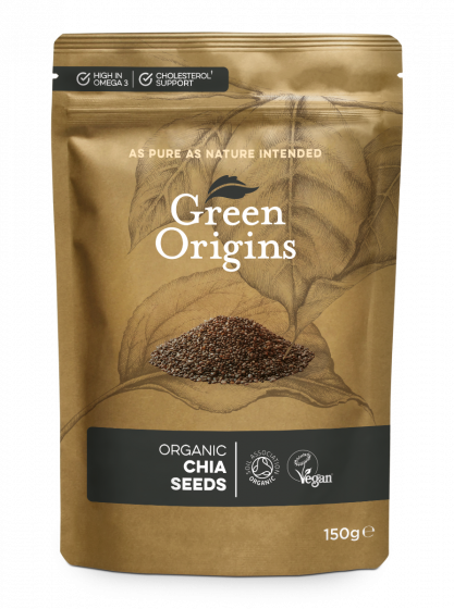Green Origins Organic Chia Seeds (Raw) 150g - 6 pack