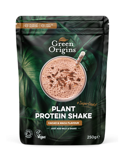 Organic Cacao & Maca Plant Protein Shake 250g
