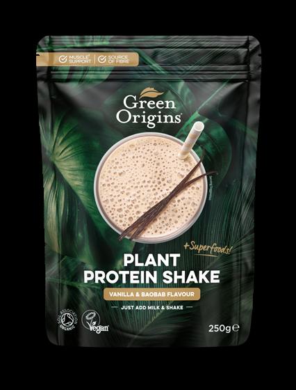 Organic Vanilla & Baobab Plant Protein Shake 250g