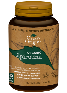 Green Origins Organic Spirulina Tablets 180x500mg - 6 pack