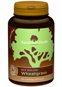 Rainforest Foods Wheatgrass Capsules 140x500mg - 6 pack