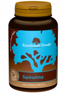 Rainforest Foods Spirulina Tablets 300x500mg - 6 pack
