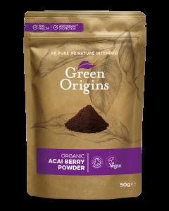 Green Origins Organic Acai Berry Powder (Freeze Dried) 50g - 8 pack