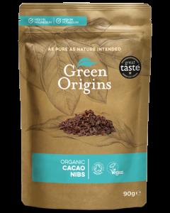 Green Origins Organic Cacao Nibs 90g - 8 pack