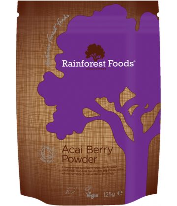 Rainforest Foods Acai Berry Powder 125g - 6 pack