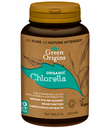 Green Origins Organic Chlorella Tablets 180x500mg - 6 pack