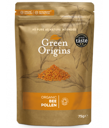 Green Origins Organic Bee Pollen (Raw) 75g - 8 pack