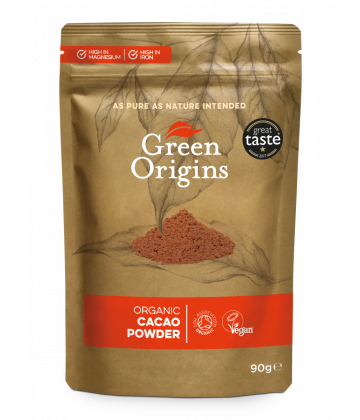 Green Origins Organic Cacao Powder 90g - 8 pack
