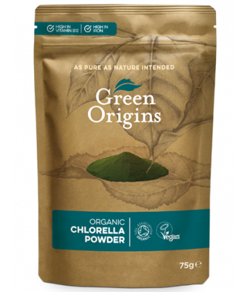 Green Origins Organic Chlorella Powder (Broken Cell Wall) 75g - 8 pack