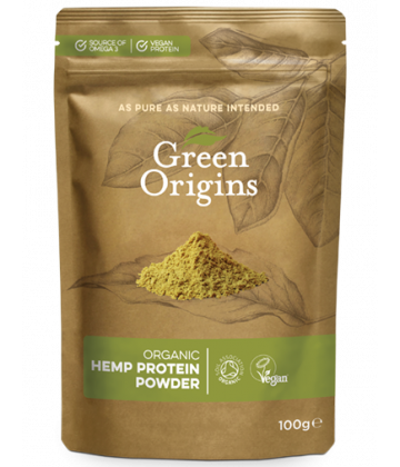 Green Origins Organic Hemp Protein Powder (Raw) 100g - 8 pack