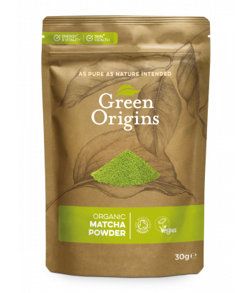 Green Origins Organic Matcha Green Tea Powder (Ceremonial) 30g - 8 pack