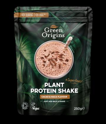 Organic Cacao & Maca Plant Protein Shake 250g