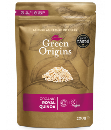 Green Origins Organic Royal Quinoa Grain 200g - 6 pack