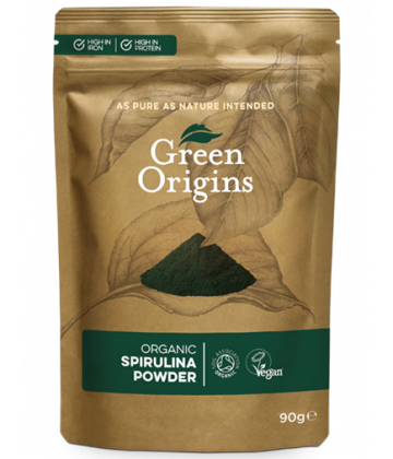 Green Origins Organic Spirulina Powder 90g - 8 pack