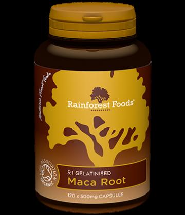 Rainforest Foods Maca Capsules 120x500mg - 6 pack
