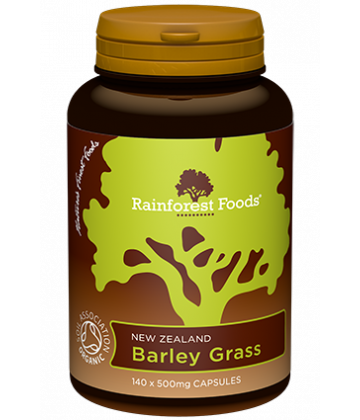 Rainforest Foods Barley Grass Capsules 140x500mg - 6 pack