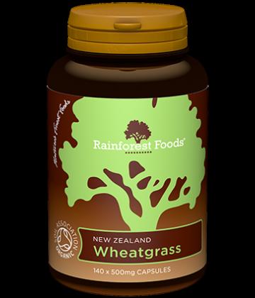 Rainforest Foods Wheatgrass Capsules 140x500mg - 6 pack