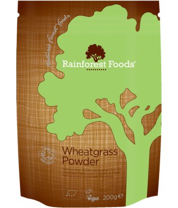 Rainforest Foods Wheatgrass Powder 200g - 6 pack