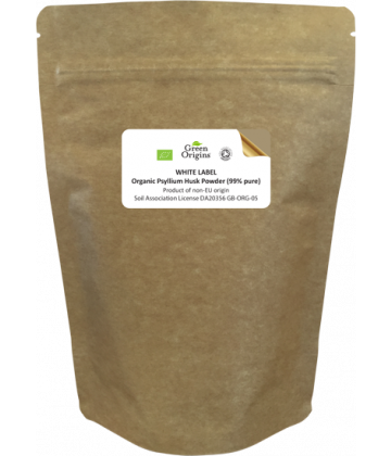 White Label Organic Psyllium Husk Powder (99% pure)